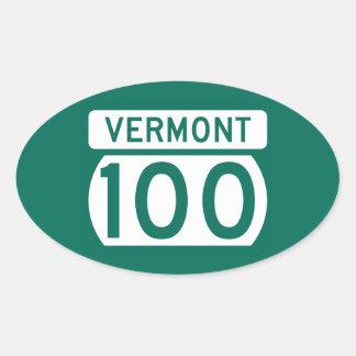 Route 100, Vermont, USA Oval Sticker