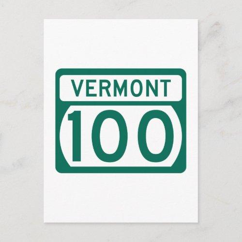 Route 100 Vermont USA Postcard