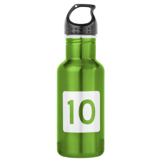 Route 10, West Virginia, USA Stainless Steel Water Bottle