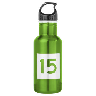 Route 15, Connecticut, USA Stainless Steel Water Bottle