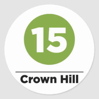 Route 15 - Crown Hill Classic Round Sticker