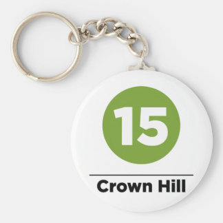 Route 15 - Crown Hill Keychain