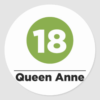 Route 18 classic round sticker