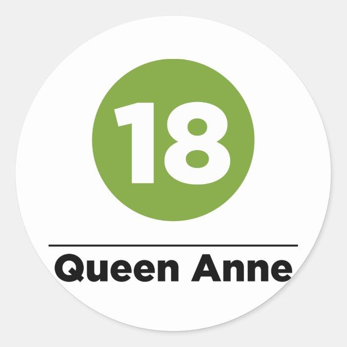 Route 18 classic round sticker