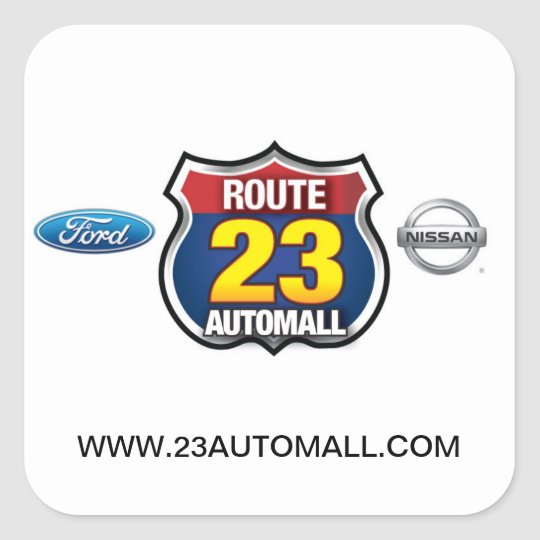 Route 23 Automall Square Sticker