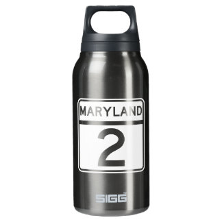 Route 2, Maryland, USA Insulated Water Bottle