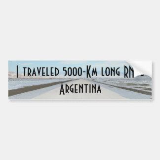Route 40 (Ruta Cuarenta) Argentina, Patagonia Car Bumper Sticker