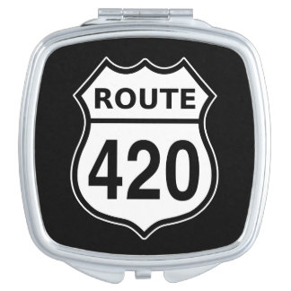 Route 420 US highway sign Compact Mirror