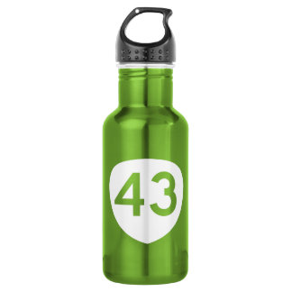 Route 43, Oregon, USA Stainless Steel Water Bottle