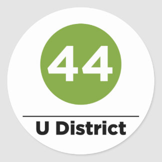 Route 44 classic round sticker