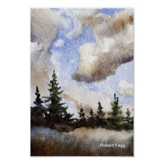 Route 55 Clouds Art Print