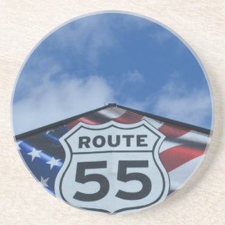 route 55 beverage coaster
