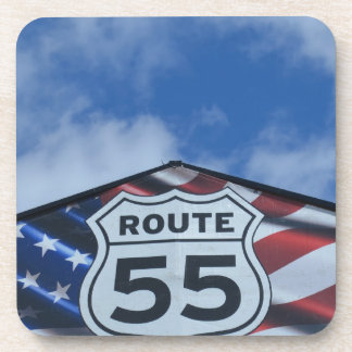 route 55 beverage coasters