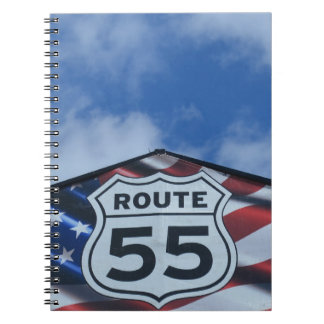 route 55 spiral notebook