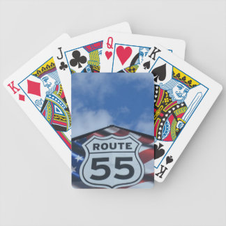 route 55 bicycle playing cards