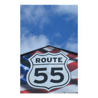 route 55 customized stationery