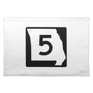Route 5, Missouri, USA Cloth Placemat