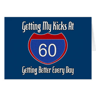 Route 60th Birthday Card