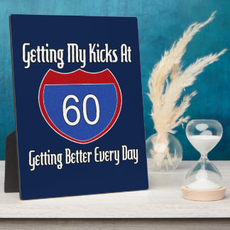 Route 60th Birthday Plaque