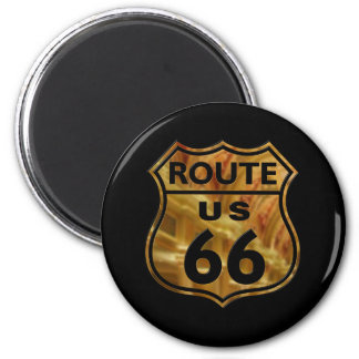Route 66 2 inch round magnet