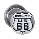 Route 66 3-D looking 2 Inch Round Button