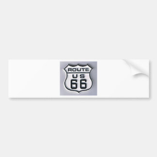 Route 66 3-D looking Bumper Sticker