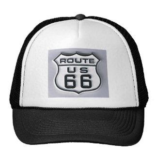 Route 66 3-D looking Trucker Hat