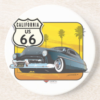 Route 66 - 50 Mercury Drink Coaster