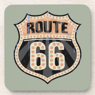Route 66 -717 Dot Beverage Coaster