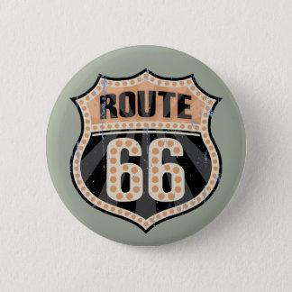 Route 66 -717 Dot Pinback Button