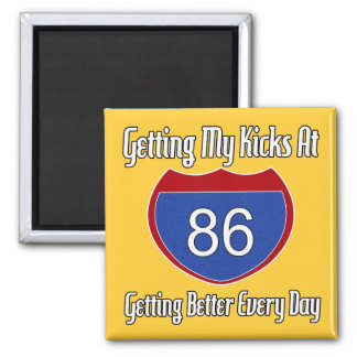 Route 66 86th Birthday Fridge Magnets