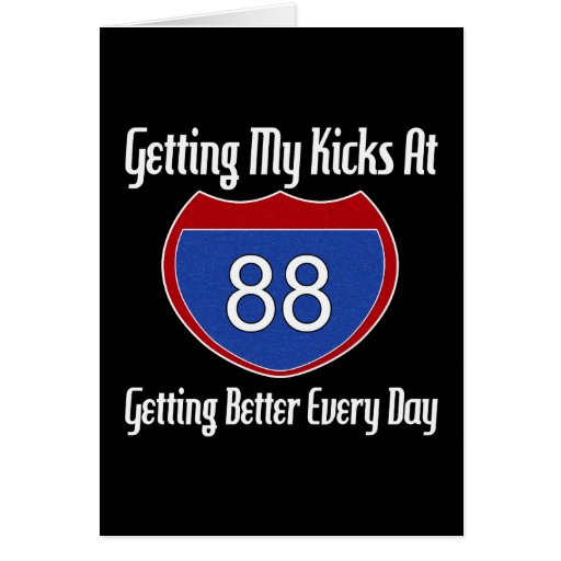 Route 66 88th Birthday Greeting Card