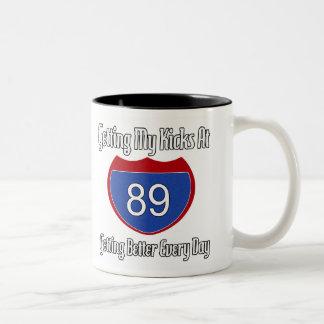 Route 66 89th Birthday Two-Tone Coffee Mug