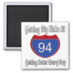 Route 66 94th Birthday Refrigerator Magnets