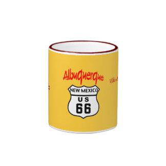 Route 66 - Albuquerque Ringer Coffee Mug