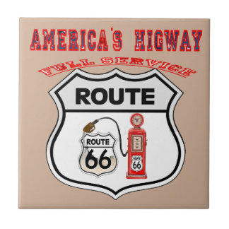 route 66 America higway gifts Ceramic Tile