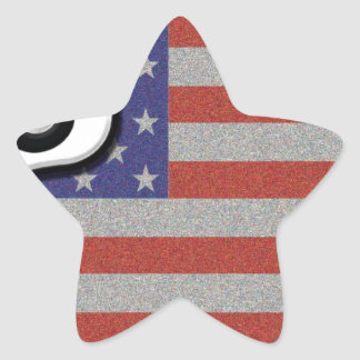 Route 66 American Flag Customize It Star Sticker