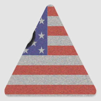 Route 66 American Flag Customize It Triangle Sticker