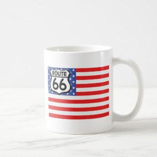 Route 66 American Flag Patriotic Coffee Mug