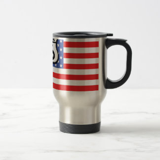 Route 66 American Flag Patriotic Travel Mug