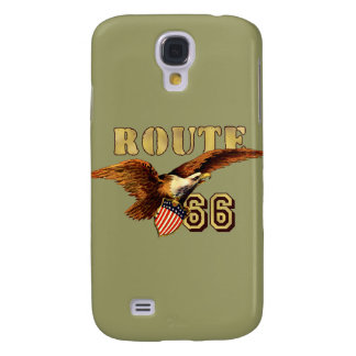 Route 66 American flag USA Bald Eagle Samsung Galaxy S4 Covers