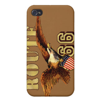 Route 66 American flag USA Bald Eagle iPhone 4/4S Case