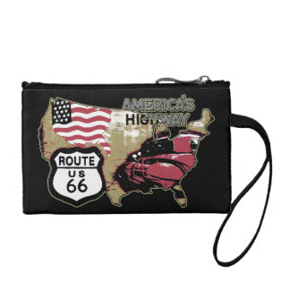 Route 66 America's Highway Coin Purse