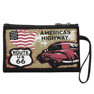 Route 66 America's Highway Wristlet Wallet