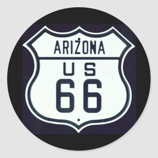 Route 66 Arizona Classic Round Sticker