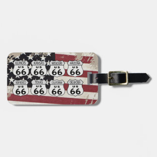 Route 66 bag tag