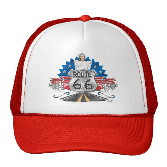 Route 66 Baseball Cap Trucker Hat