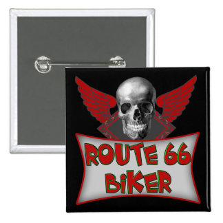 Route 66 Biker T shirts Gifts 2 Inch Square Button