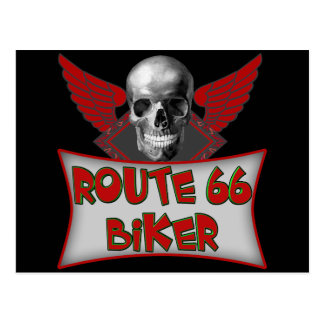 Route 66 Biker T shirts Gifts Post Card