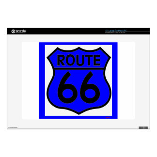 """Route 66 Blue Customize it Decal For 15"""" Laptop"""